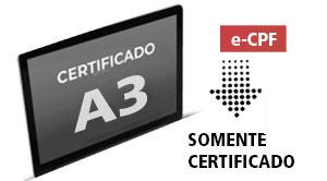 e-CPF A3 - (somente certificado)