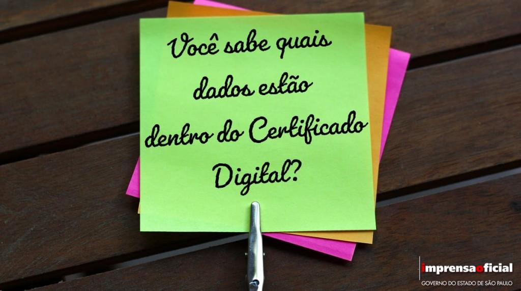 Quais são os dados inseridos em um certificado digital?
